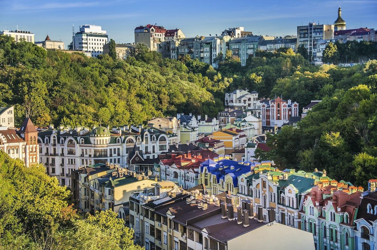 Odwiedziny Vozdvizhenka district, Podil, Kyiv