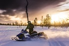 Snowmobiling in the north of Norway