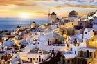 Santorini's romantic sunset