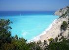 Egkremni Beach, 325 steps down to the beach!