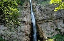 Skakavac Waterfall at Perućica Rainforest