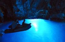 Blue cave in Biševo