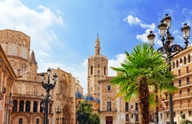 Walk through the Plaza and visit Catedral de Santa Maria de Valencia