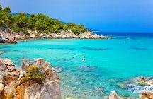 Kavourotripes Beach in Halkidiki