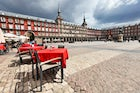 Have a rest on Plaza Mayor in Marid