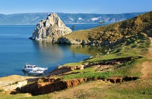Shamanka Rock at Baikal Lake, Southern Siberia