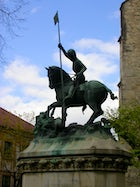 The monument of Saint George killing the dragon Cluj-Napoca