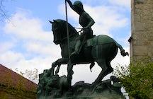 The monument of Saint George killing the dragon Cluj-Napoca