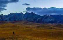 Kelinshektau Mountain in South Kazakhstan