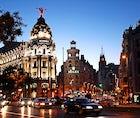 Enjoy shopping and nightlife in Gran Via, Madrid