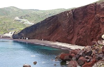 Red beach in Crete (Kokkini Paralia)