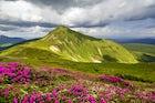 Mount peak Hoverla, the Carpathian Mountains