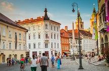 Town square Ljubljana