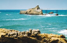 Rocher de la Vierge in Biarritz