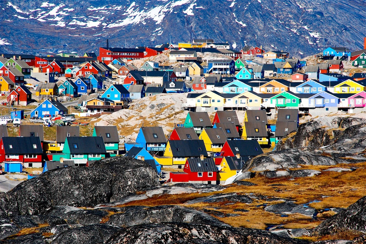 Beautiful towns and villages in Greenland
