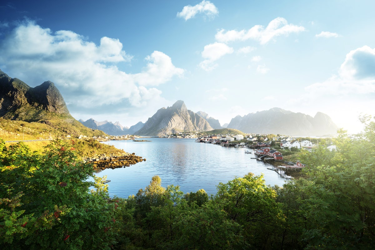 Beautiful towns and villages in Norway