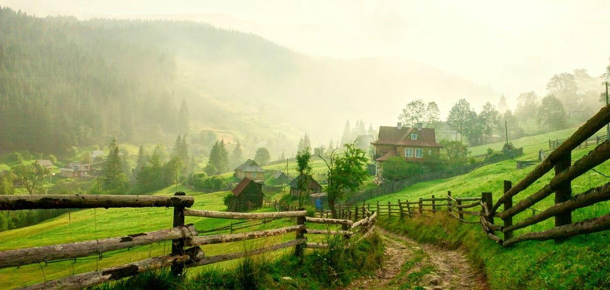 Beautiful towns and villages in Ukraine