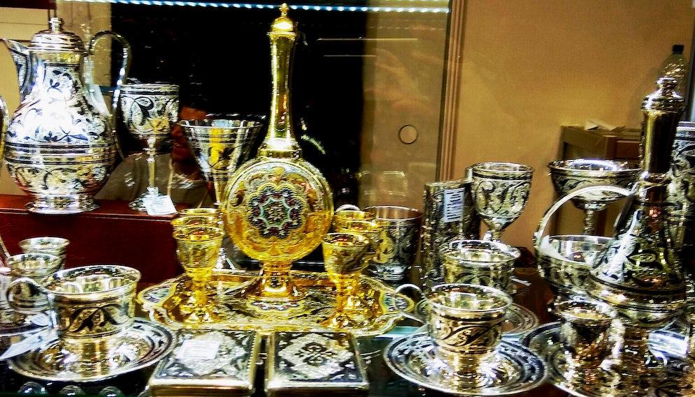 Dagestan silver vessels