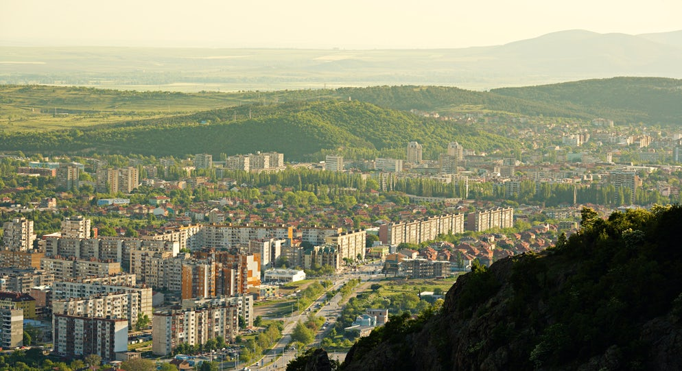 Panoramic view of town of Sliven. Picture © Credits to istock/ ©ecobo