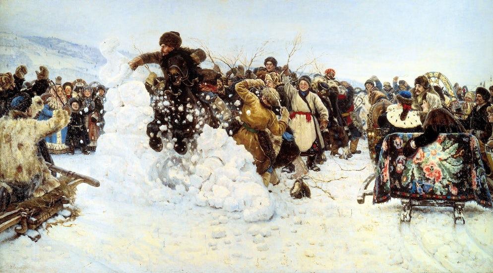 """© Vasily Surikov/ """"Taking of the Snow Town"""""""