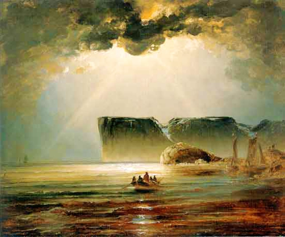 Painting ©: Peder Balke in the 1800s