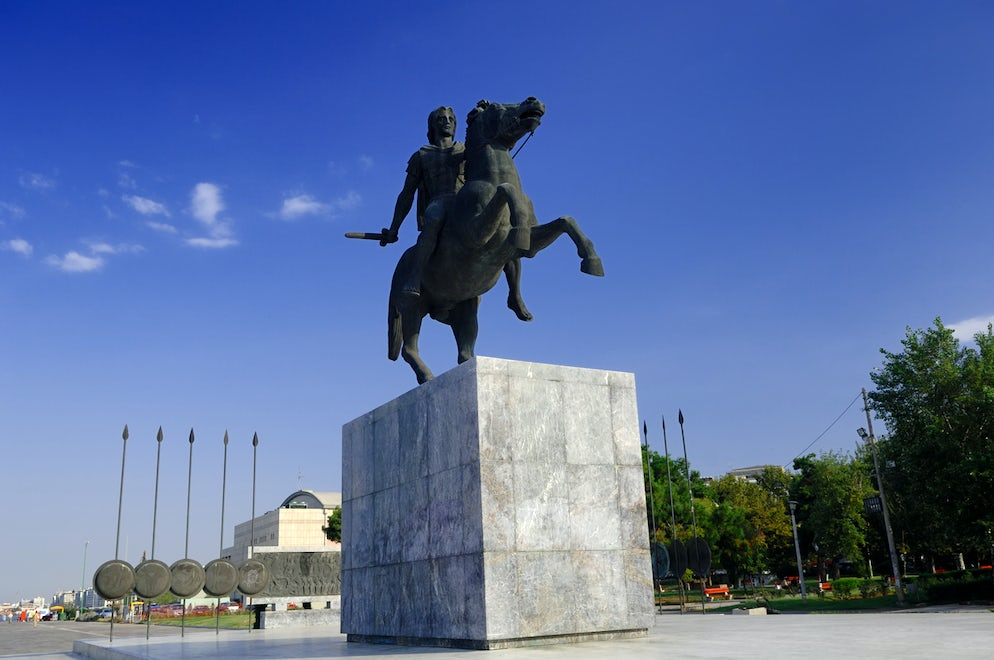 Alexander's the Great imposing statue, picture © Credits to iStock/ efilippou