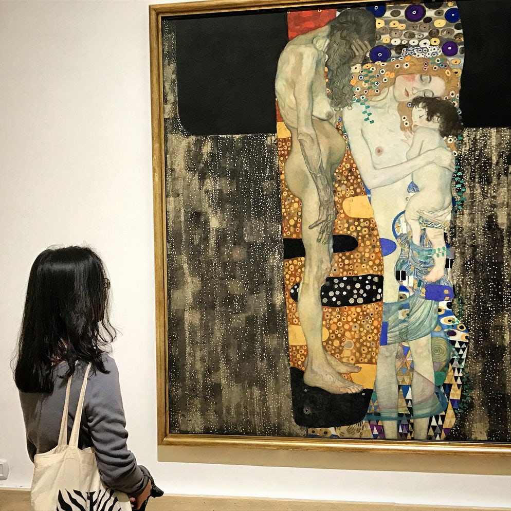 """Klimt's """"The Three Ages of Woman""""   Photo: Vy Dan Tran"""