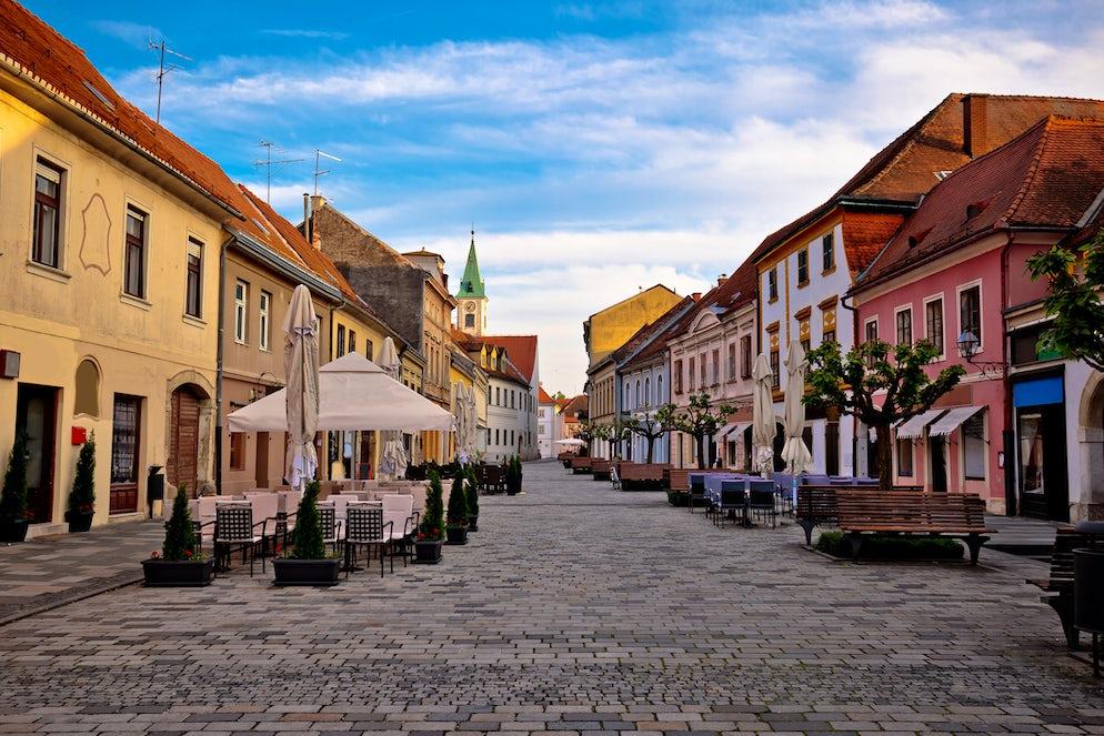 Varaždin baroque street, Photo © credits: xbrchx