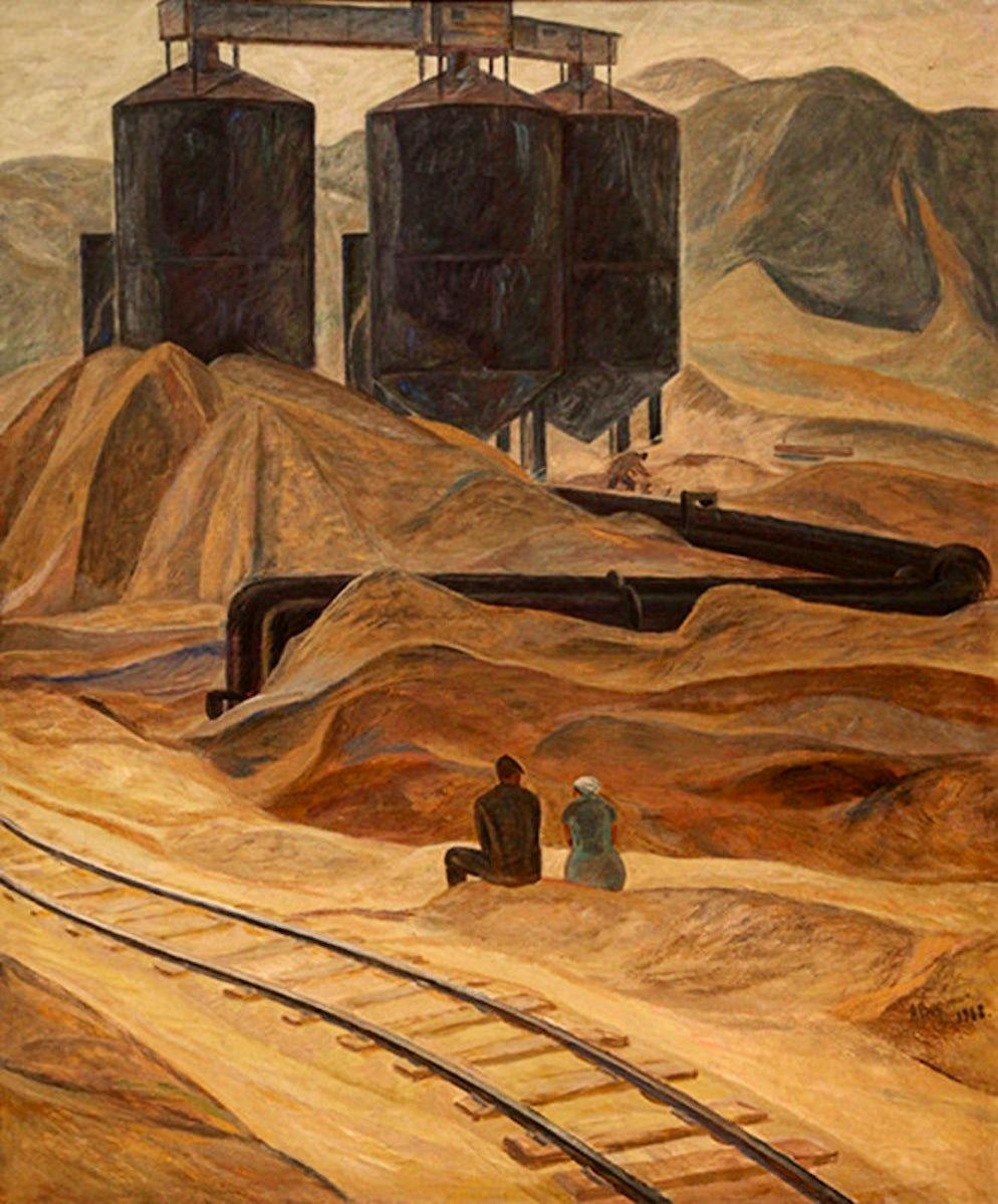 """Uch kurgan"", Aleksandr Voronin, 1968. Photo credit Ⓒ State Museum of Fine Arts"