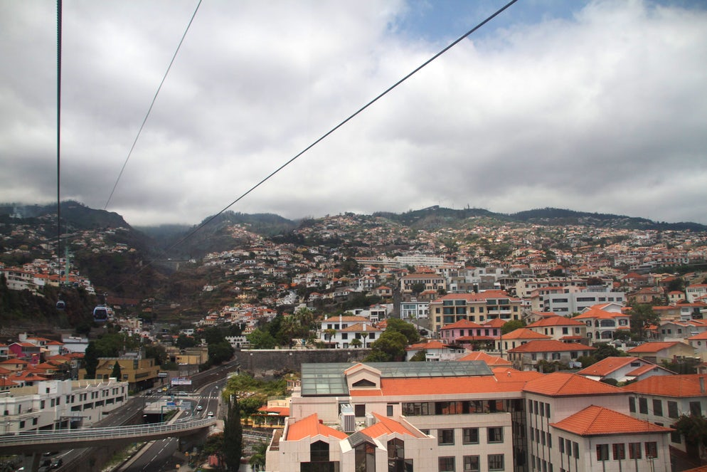 The view from the cable car.