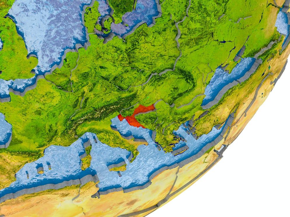 Croatia in the map; Photo © credits to iStockphoto/Harvepino