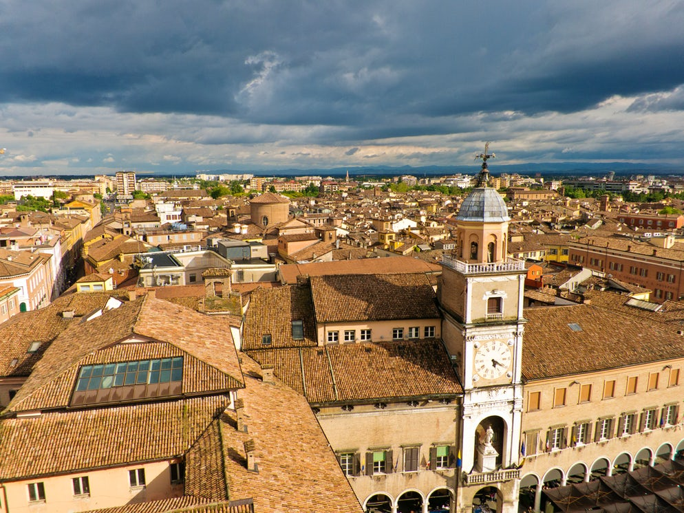 Overlooking Modena in Italy © Credits to Banet12