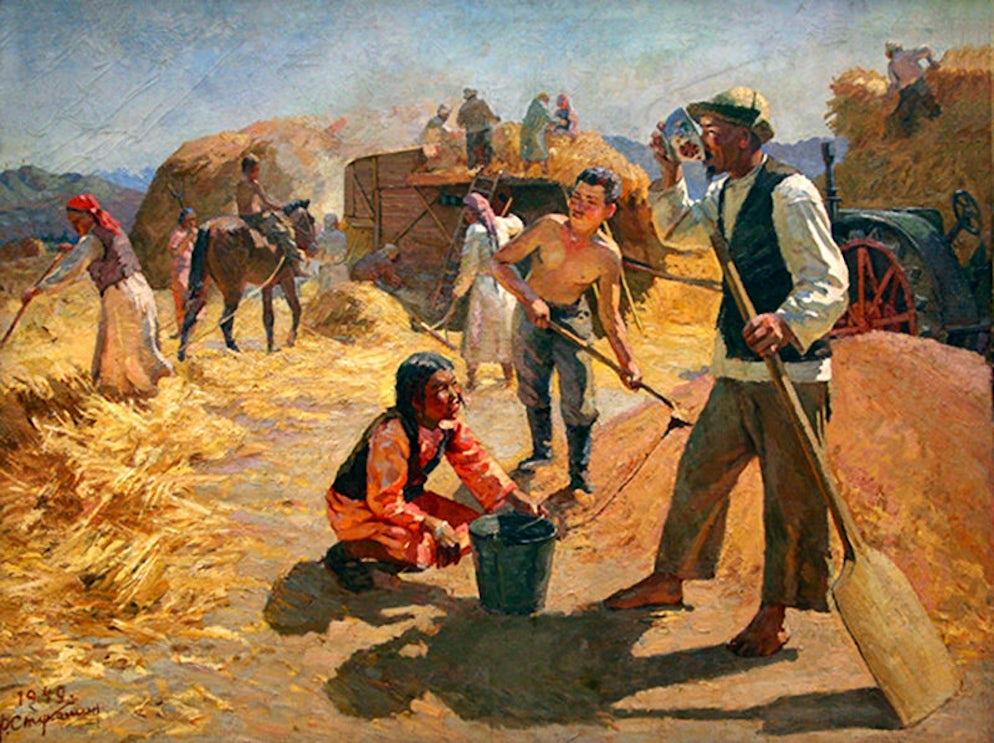 """Na toku"", Feodor Stukoshin, 1949. Photo credit Ⓒ State Museum of Fine Arts"
