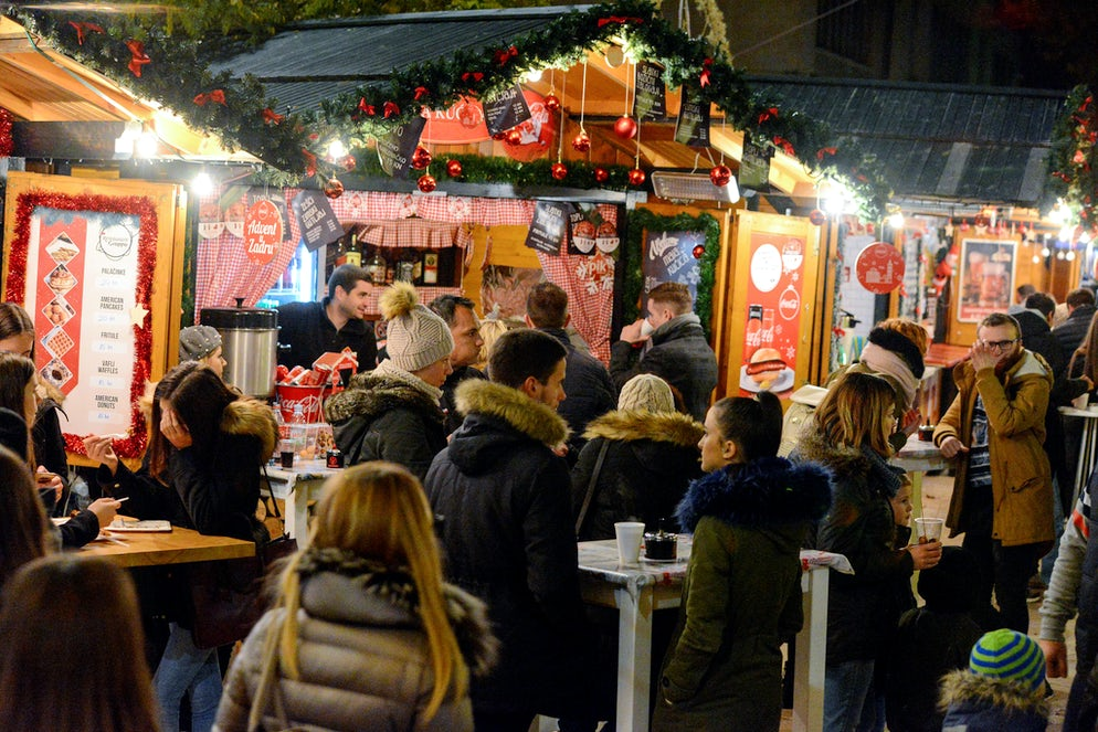 Food stands on Zadar Advent; Photo © credits: Iva Perinčić