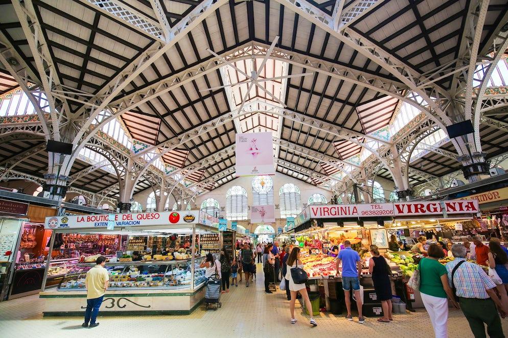 Stalls in the market - photo credit @ Jorisvo