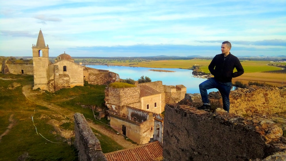 Picture Credit: © Adam L. Maloney (Standing atop the Moorish tower with the abandoned church to the left and Spain in the background across the river)