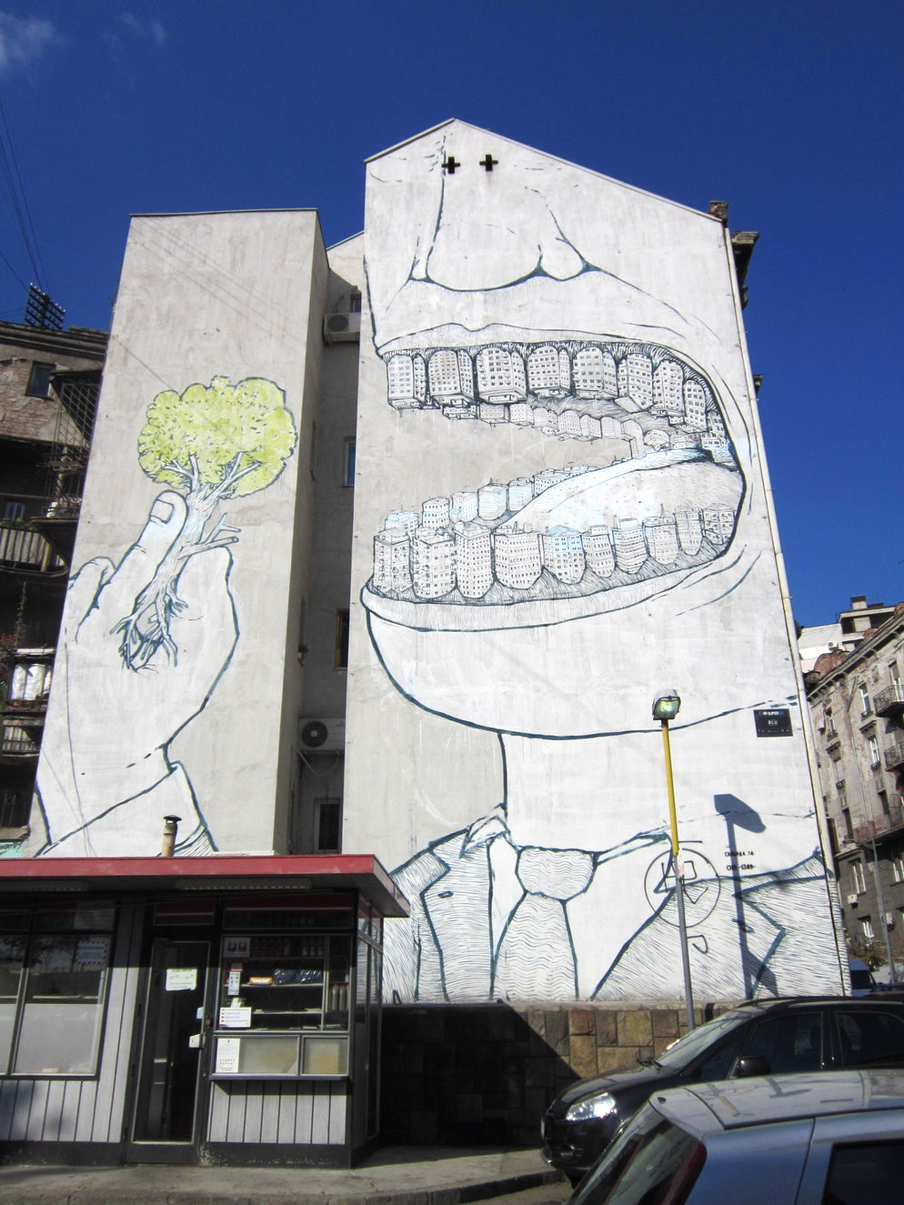 Brilliant street art in Belgrade © Credits to imgur.com