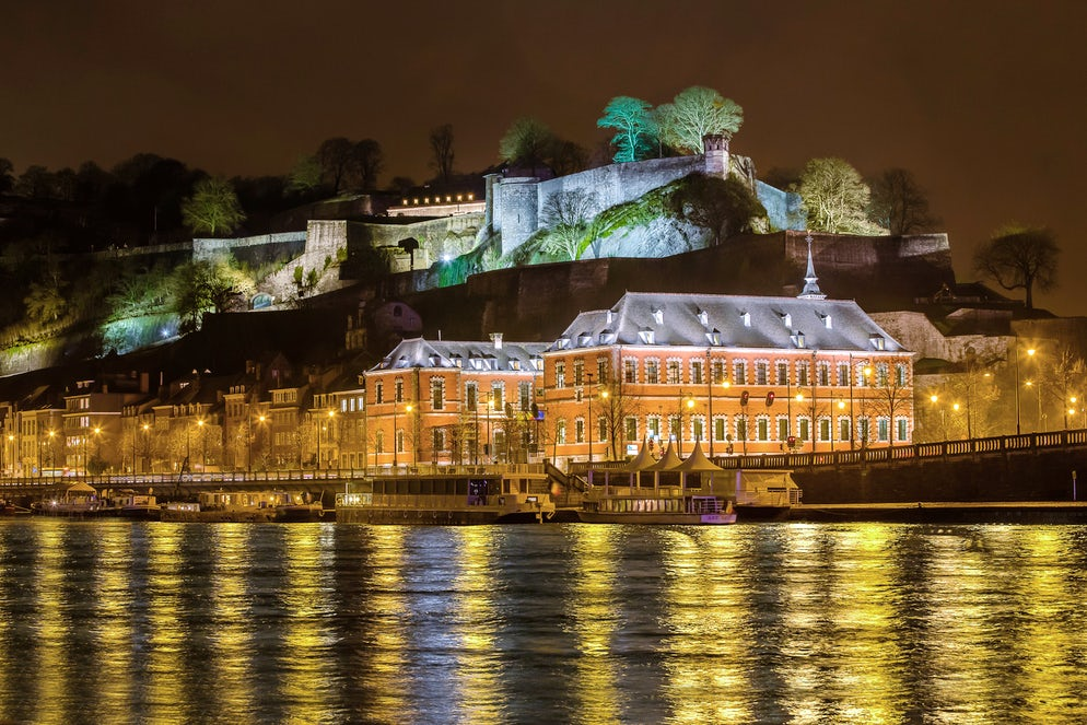 The Citadel of Namur by night. Picture©Credits to Philippe Berger