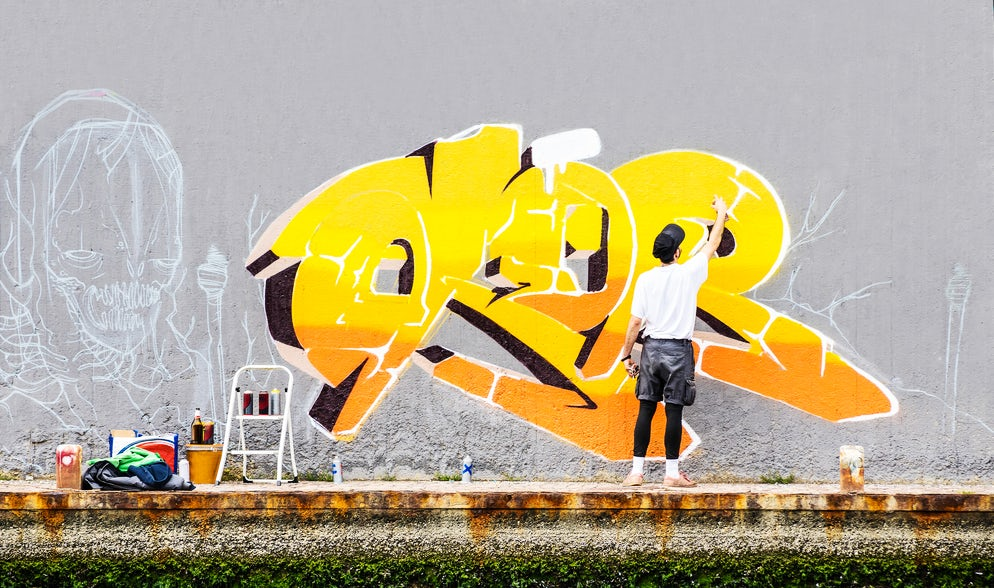 Graffiti with aerosol can ©To iStock/ViewApart