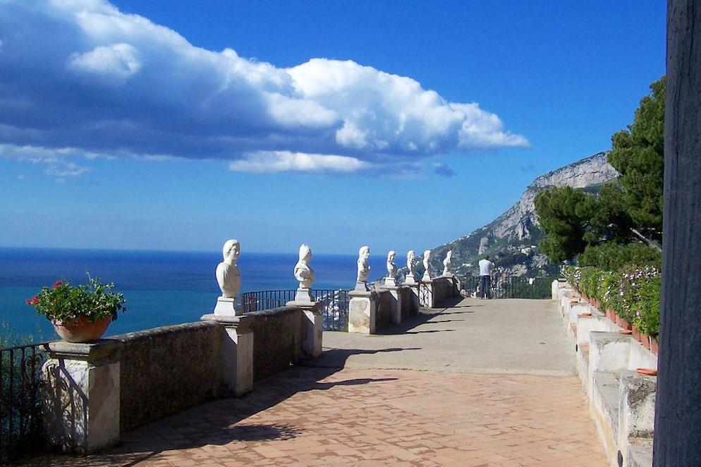 The Breathtaking Terrace Of Infinity In Villa Cimbrone Ravello