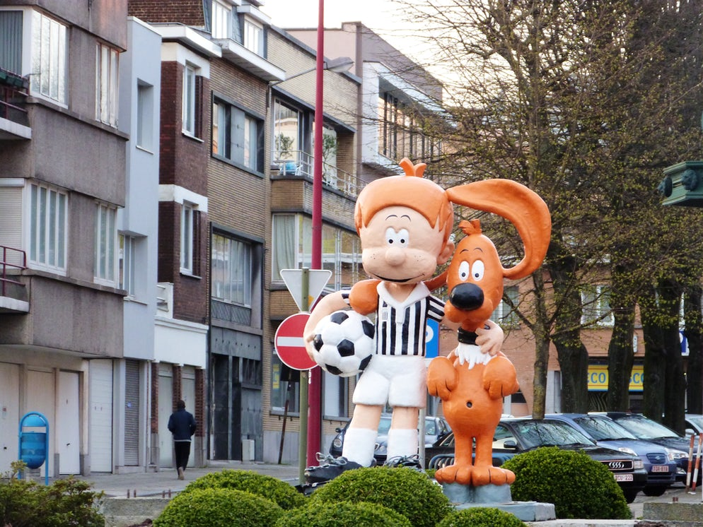 Statues of Boule&Bill in Charleroi © To Wikipédia/George Woes JR