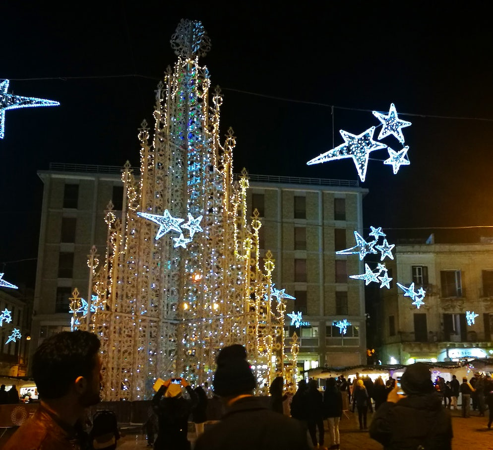 Piazza Sant'Oronzo at Christmas time