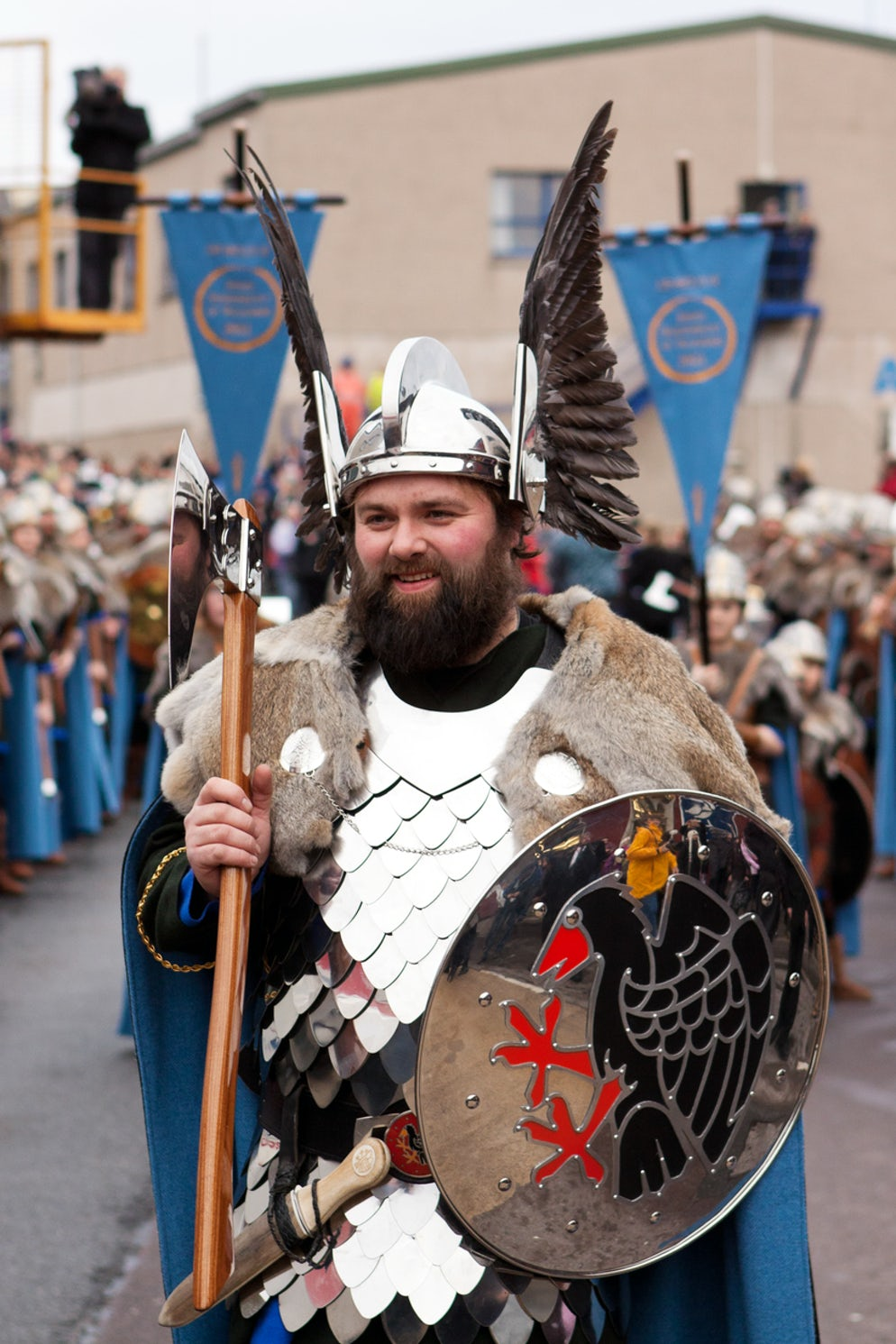 The Up Helly Aa Guizer Jarl of 2011 - Picture credits @ AndrewJShearer