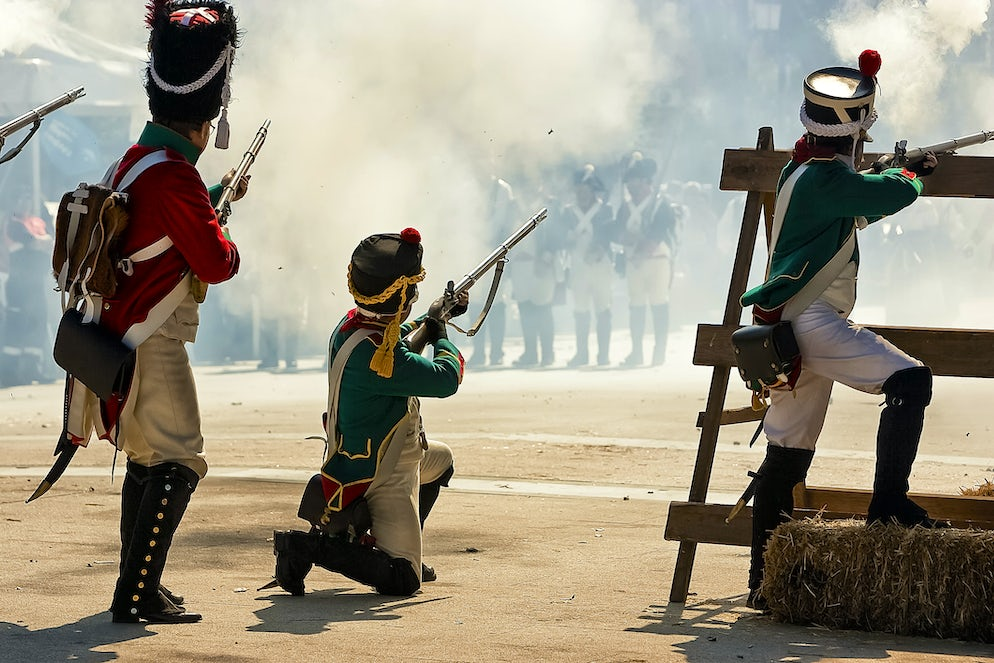 Representation of the Battle of Bailén (1808) at Bailén (Jaén) - Picture © Credits to iStock/digicomphoto