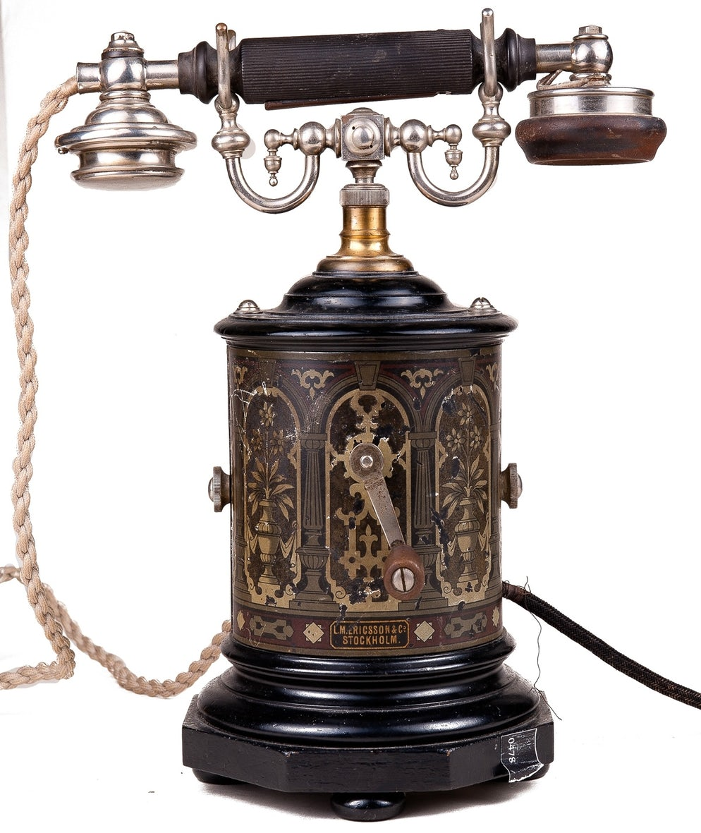 """Photo © credits to Museum of Telephone History. """"Coffee-Grinder"""""""
