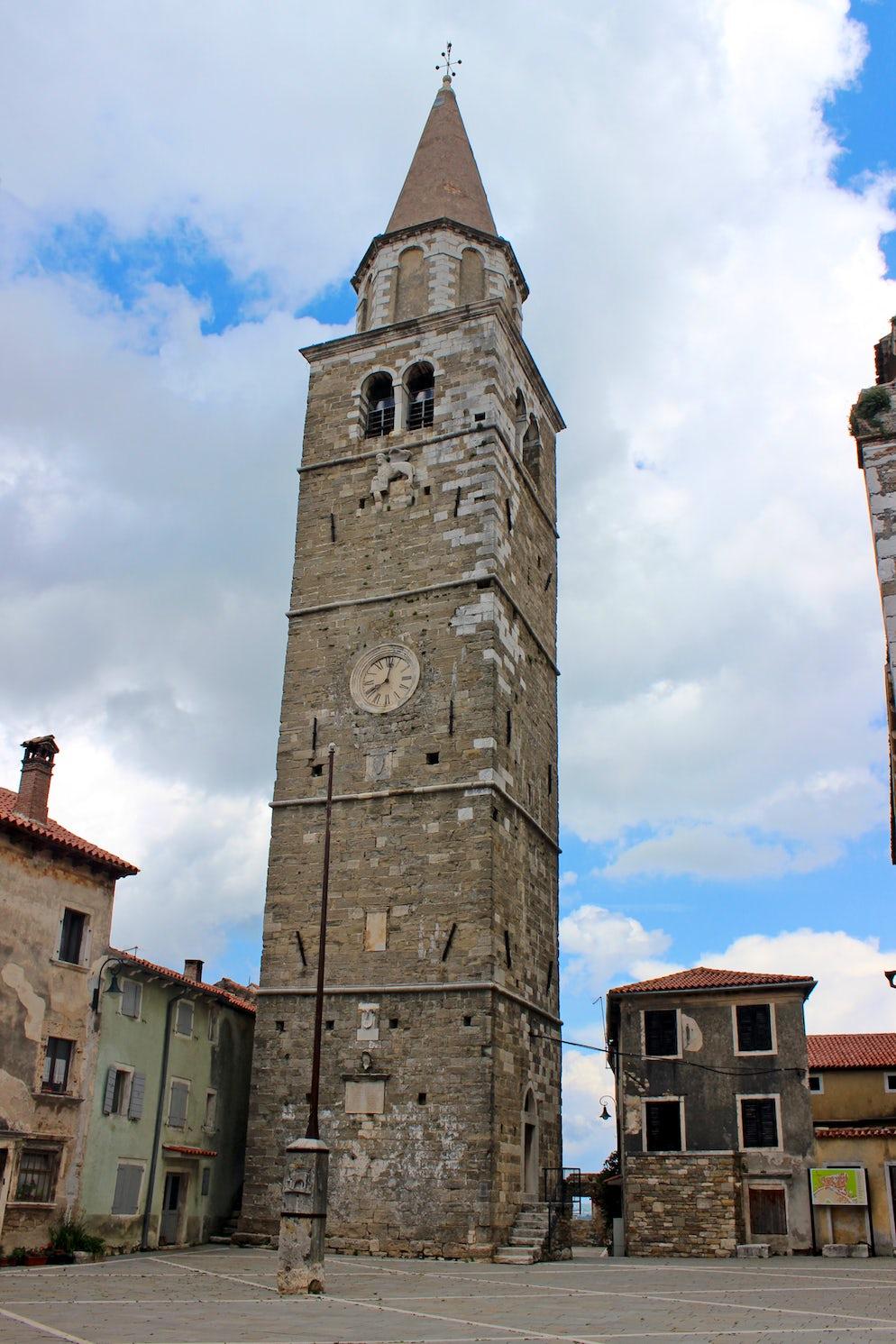 Bell-tower, San Servolo, Buje; Photo © credits: Maesi64