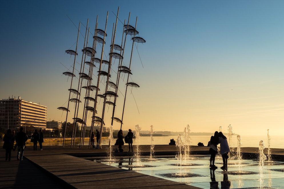 The umbrellas sculpture, picture © Credits to iStock/ Aivita