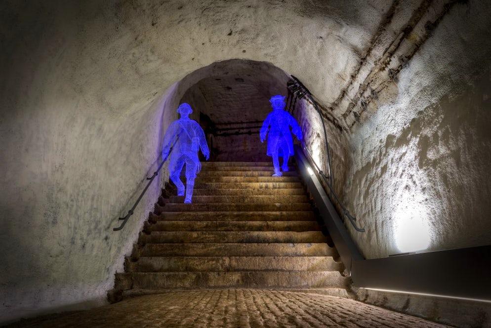 The underground tunnels. Picture©Credits to Vincent Ferooz, Pixel Komando