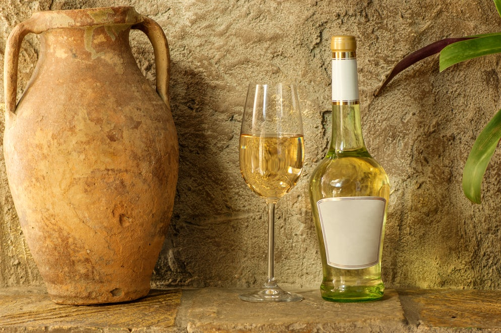Amphora and the wine; Photo © credits: Albert_Karimov