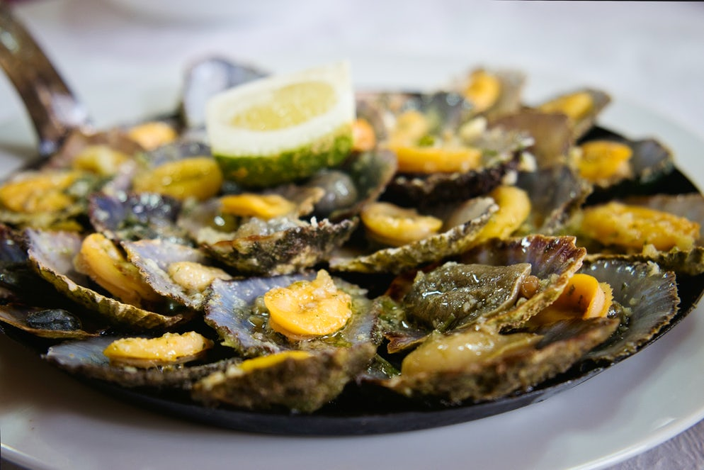 Famous Grilled Limpets found in Madeira.